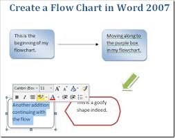 create a flow chart in word