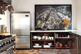 the greys anatomy star has a mega creative kitchen theres something about the painting the black and white striped rug imported terracotta tiles anatomy eat kitchen