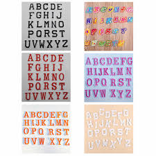 letter <b>Embroidery</b> patches <b>DIY hot</b> Melt Adhesive Sew On Brand ...