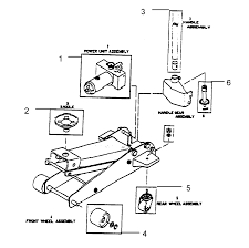 craftsman  ton service jack unit  s   model    sears    craftsman  ton service jack model  unit  s diagram