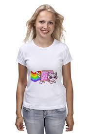 Футболка <b>классическая Nyan</b> cat #1215326 – заказать женские ...