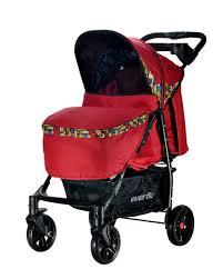 <b>Коляска прогулочная Everflo Safari</b> Luxe Е-230, цвет: красный