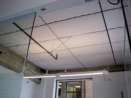 acoustical foam installed direct to a concrete ceiling in an office ceiling office