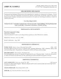 printable phlebotomy resume and guidelines