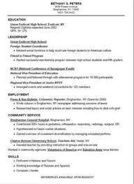 free resume templates for high school students  babysitting  fast    high school student resume templates