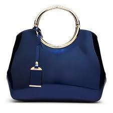 <b>Fashion</b> By LV <b>Patent Leather Ladies</b> Handbag- Royal Blue | Konga ...