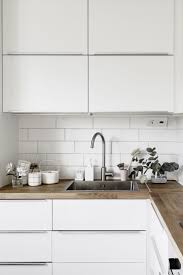 kitchen worktops ideas worktop full: like the combination with wooden worktop and white tiles