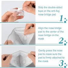 <b>Anti Fog Nose</b> Bridge <b>Strip</b> for Face Mask, 20 Pcs Silicone Mas-k ...