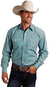 Stetson <b>Men's Large Floral</b> Print Long Sleeve Western Shirt Blue X ...