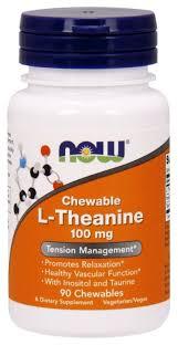 Аминокислота NOW <b>L</b>-<b>Theanine 100</b> mg (90 капсул) — купить по ...