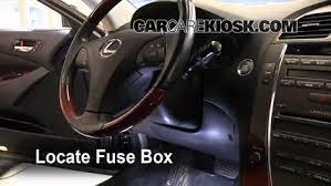 interior fuse box location lexus es lexus interior fuse box location 2007 2012 lexus es350