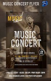 psd flyer templates psd eps ai indesign format music concert flyer template