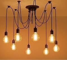 <b>Modern Nordic</b> Art <b>Spider</b> Chandelier | Light bulb chandelier, Light ...