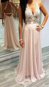 <b>Sexy</b> Pink Prom Dresses <b>Halter V</b>-<b>Neck Lace</b> Sleeveless Open Back ...