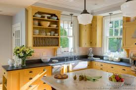 open kitchen design farmhouse: country kitchen design kitchen cabinets traditional two tone  cpc yellow plate rack display farm sink