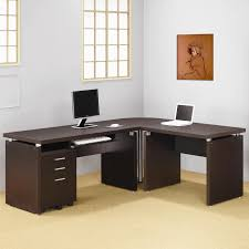 furniture modern orange computer desk design with black keyboard on left pulls the christian home chic corner office desk oak corner desk