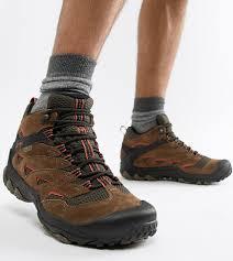 Коричневые фестивальные походные <b>ботинки Merrell</b> ...