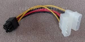 <b>Переходник 2MOLEX</b> -> PCIE <b>6pin</b> для дополнительного <b>питания</b> ...