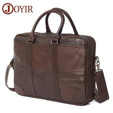 <b>JOYIR</b> Business Briefcase <b>Genuine Leather Men</b> Bag Computer ...