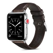 <b>Luxury</b> Black Leather 38/40mm Or 42/44mm Apple <b>Watch Band</b> ...