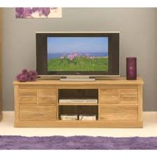 baumhaus mobel solid oak 6 drawer widescreen tv cabinet baumhaus mobel solid oak 3
