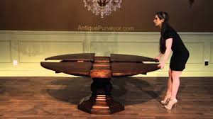 dining table storing rustic round dining table for  expandable jupe table with self storing