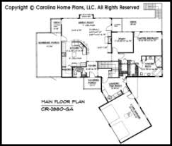 Large Contemporary Ranch Style House Plan CR  Sq Ft   Luxury    CR Main Floor Plan
