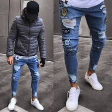 Fashion Hip Hop Slim Fit Ripped <b>Jeans Men</b> 2018 Famous <b>Brand</b> ...