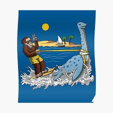 """<b>Bigfoot</b> Loch Ness Monster <b>Water Ski</b>"" Poster by underheaven ..."