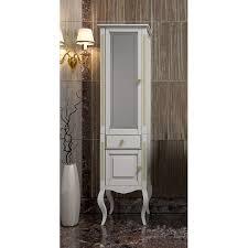 <b>Шкаф</b>-<b>пенал Opadiris Лаура</b> Z0000006525 44 L белый с патиной ...