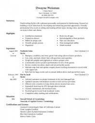 hair stylist resume   best resume collectionhair stylist assistant resume
