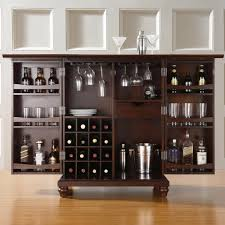 curio cabinet and modern espresso wooden with wheels also dining room furniture curio compact bar bar room furniture home