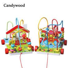 Candywood Kids Child <b>Bead</b> Roller Coaster <b>Maze Puzzle Toy</b> ...