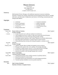 product manager resumes template job and resume template program manager resume template sample