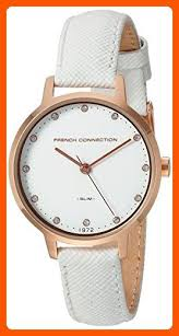 <b>French Connection</b> Women's Quartz Metal and Leather <b>Watch</b>, Color ...