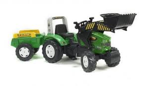 <b>Трактор</b>-<b>экскаватор педальный</b> с прицепом <b>FALK</b> FAL 1071M RT ...