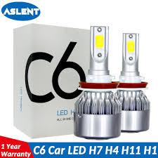 <b>Aslent</b> C6 <b>led</b> Car Headlight H7 <b>LED</b> H4 Bulb HB2 H1 H3 H11 <b>HB3</b> ...