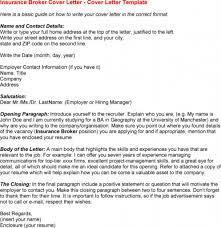 good insurance broker cover letter sample recentresumes com insurance broker cover letter sample and cover letter template