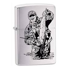 <b>Зажигалка ZIPPO Fisherman</b> Brushed Chrome, латунь, никеле ...