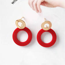 Fashion woman Simple Punk Style <b>Abstract Art Earrings</b> Face shape ...