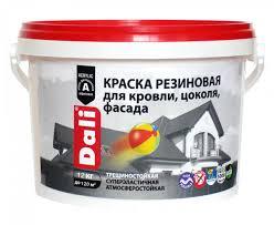 <b>Резиновая краска Dali</b> для кровли, цоколя, фасада 12 кг