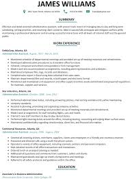 resume template resume example administrative assistant alexa examples of resumes for administrative positions