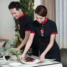 <b>summer Chinese style restaurant</b> uniform for waiter clothes waitress ...
