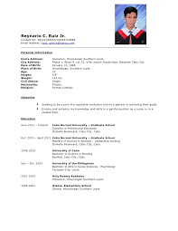 comprehensive resume for graduate school