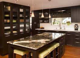granite island top kitchen contemporary with breakfast bar ceiling lighting image by nw home designers bar top lighting