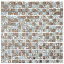 """Bati-Orient Mosaic - Mix Mix Grey Glass <b>Inox 5/8</b>""""X5/8"""" - Sheet 12""""X12"""""""