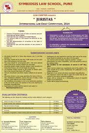 sls pune ilsa chapter s international law essay competition juristas symbiosis pune ils chapter international law essay writing competition juristas
