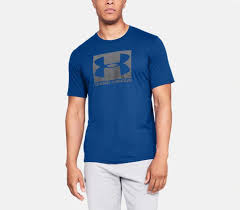 Under Armour Blue Boxed <b>Sportstyle Graphic T</b>-Shirt For Men ...