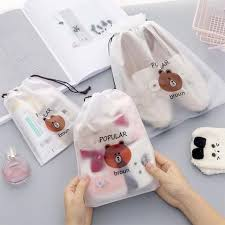 Cartoon Bear <b>Transparent Travel Cosmetic Bag</b> & Toiletry Storage Kit