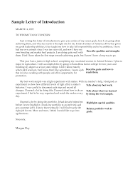letter of introduction format best template collection sample portfolio introduction letter